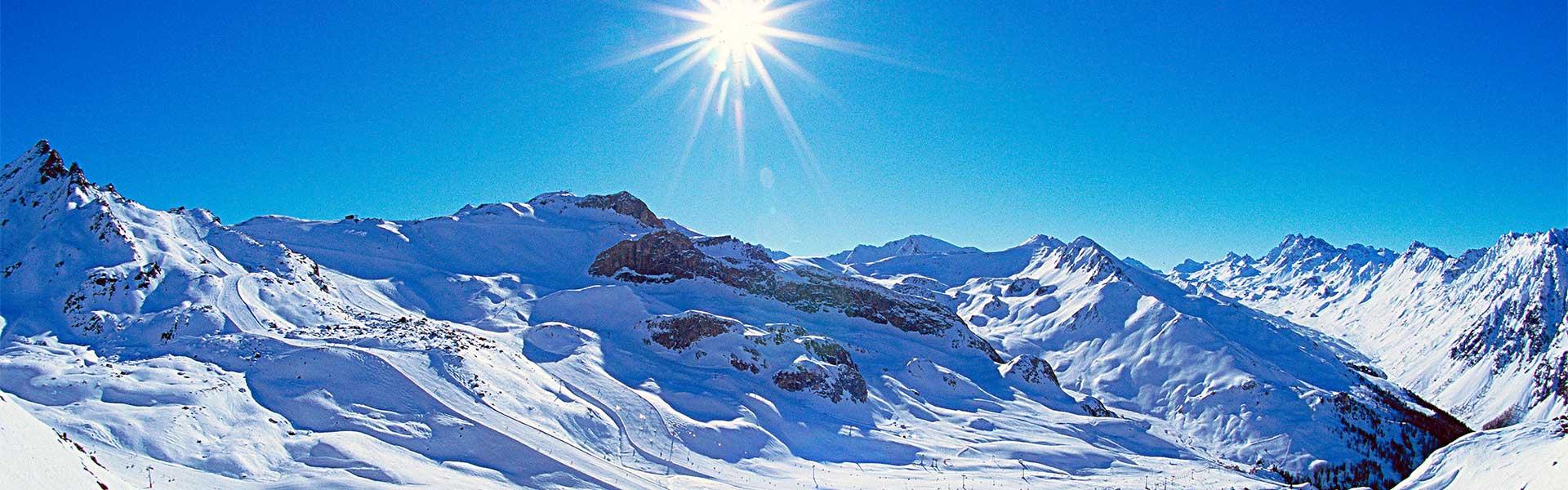 Schnee Landschaft in Ischgl