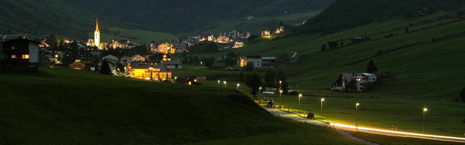 Nachtaufnahme Ischgl
